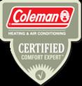 Coleman Certified Comfort Expert Logo